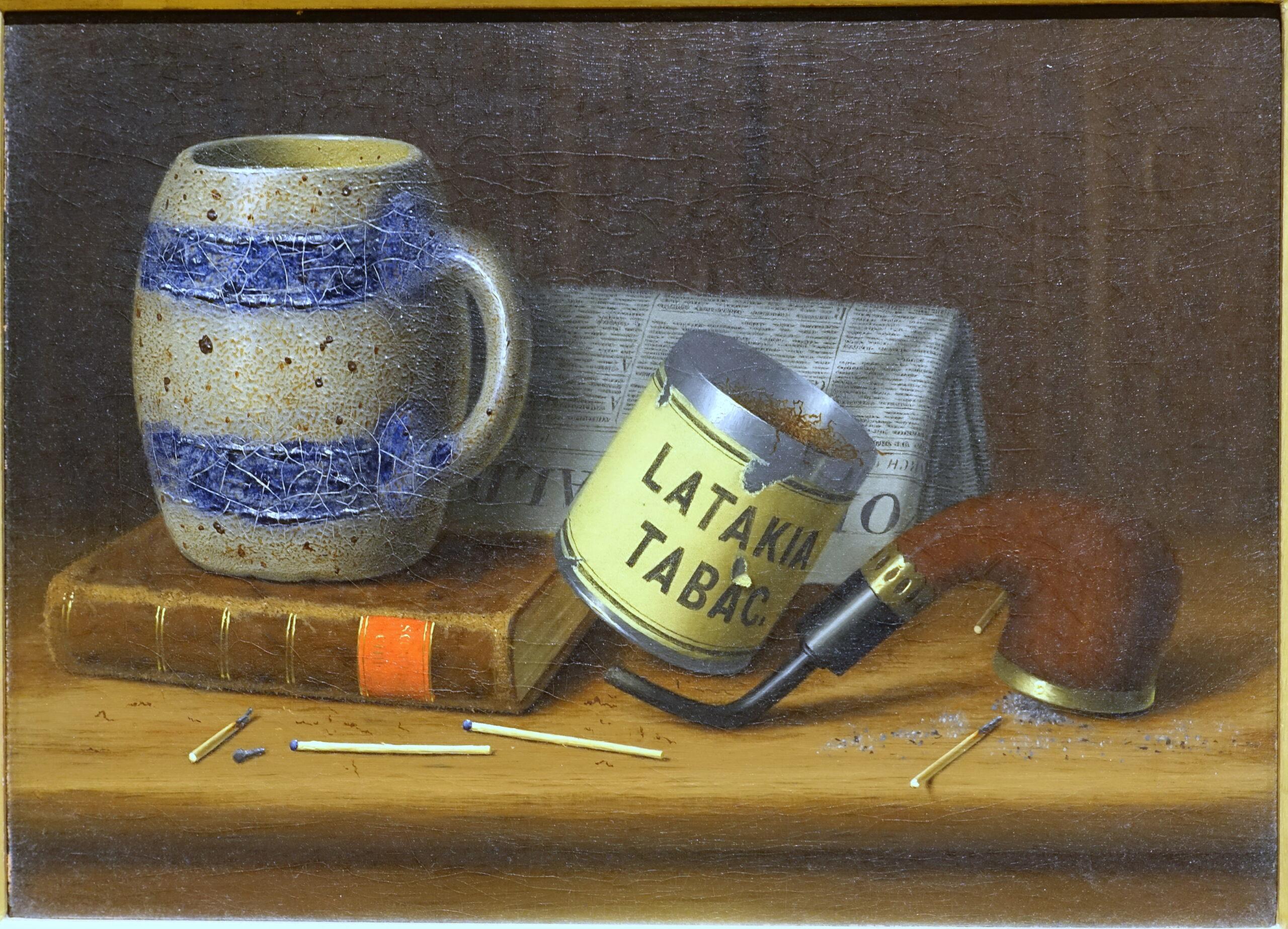 Latakia_II,_by_William_Michael_Harnett,_c._1880,_oil_on_canvas_-_Portland_Museum_of_Art_-_Portland,_Maine_-_DSC04235